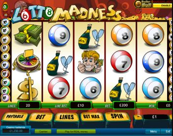 Lotto Madness Slot Machine Game